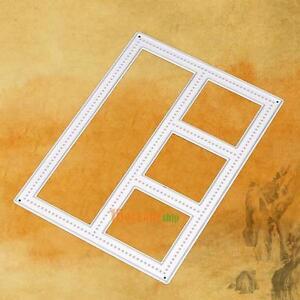 Marco-De-Metal-Caja-de-memoria-de-corte-muere-Hagalo-usted-mismo-Scrapbooking-diario-tarjeta-Mano