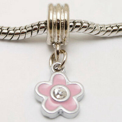 1pc enemal plum flower pendant fit bracelet charm PQ675