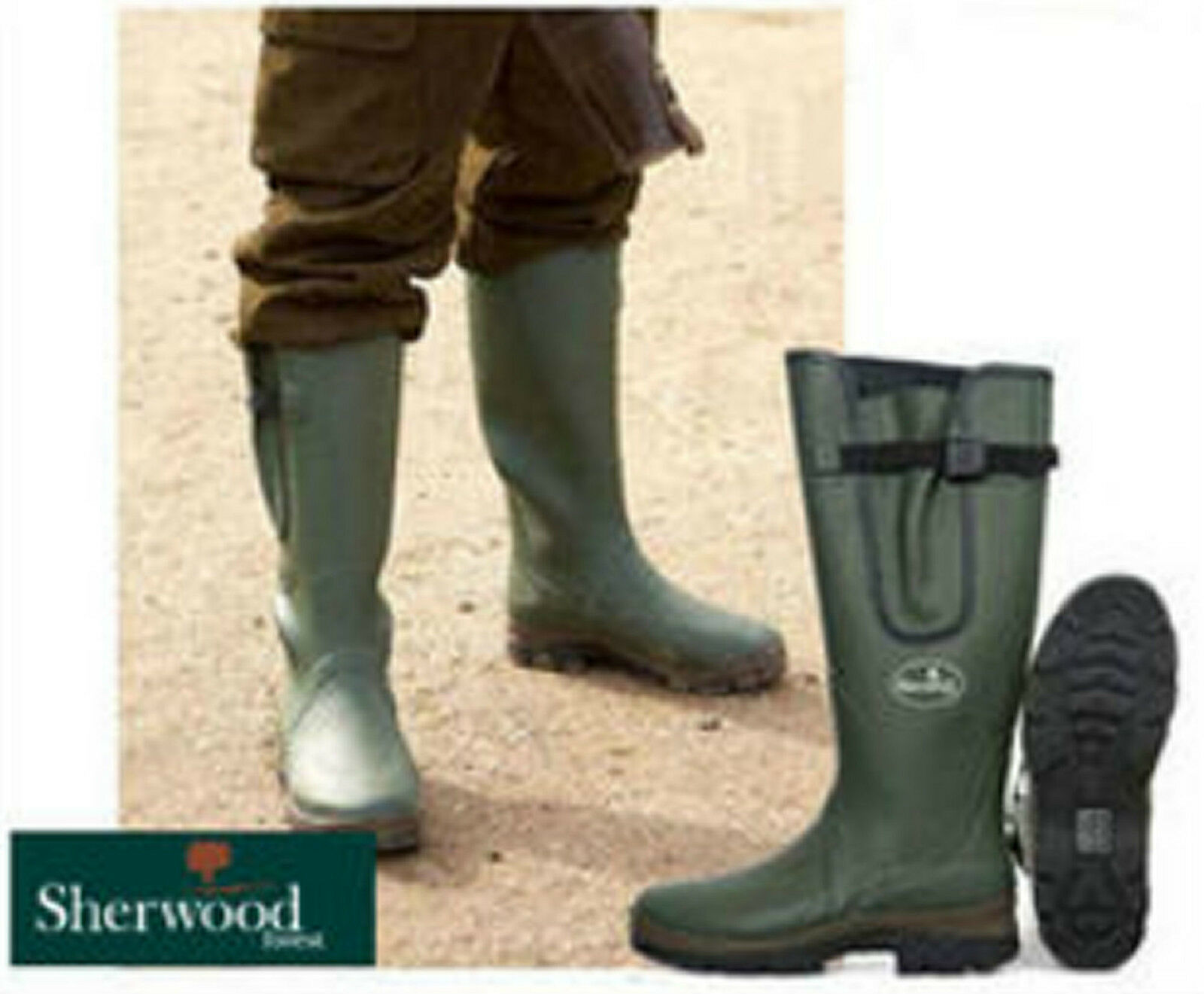 SHERWOOD FOREST UNISEX ANVIL WELLINGTON BOOTS HUNTING SHOOTING WELLIES BOXED