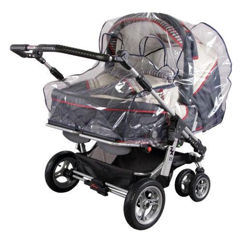 Regenplane Regenverdeck Regenschutz  Regenhaube für  Zwillingskinderwagen 13198