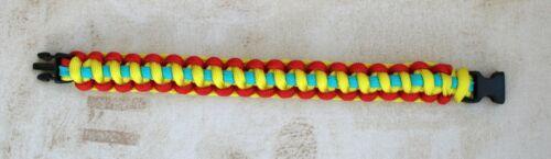 Lituanie 7 Strand Para Cordon Militaire Weave Bracelet avec Toboggan Fermoir