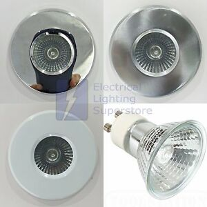 8 x BATHROOM SHOWER RECESSED DOWN LIGHTS GU10 IP65 ZONE 1 ...