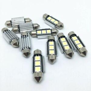 10x-6000K-LED-C5W-36mm-Ampoule-Navette-Plafonnier-Plaque-ANTI-SANS-ERREUR-CANBUS