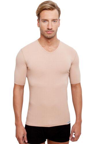 Invisibile sotto Camicia per uomo nel colore della pelle con collo a V o girocollo