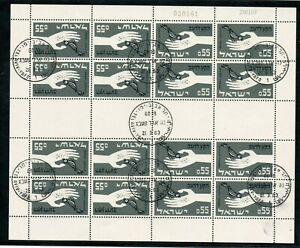 DernièRe Collection De Israël Scott #237a 1963 Freedom From Hunger Feuille Fd Annulée Original Gum!!!-afficher Le Titre D'origine