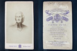 Pierre Petit, Paris, Hyacinthe-Louis de Quélen, archevêque Vintage cdv albumen p