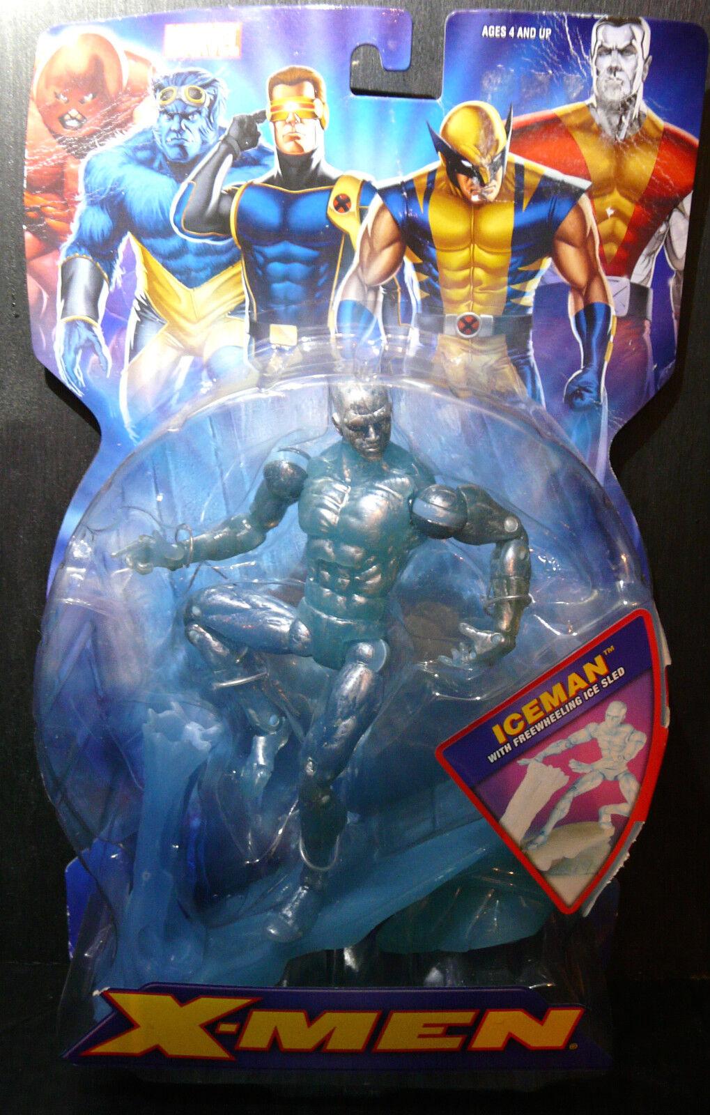 Marvel X-Sie Classics 6  ICEMAN w Freewheeling Ice Sled. New  Rare
