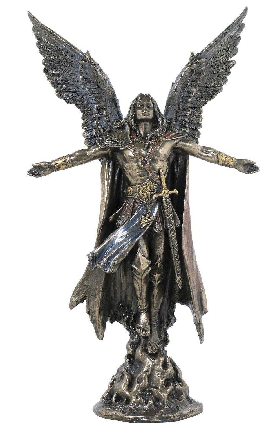 Erzengel Uriel  Das Licht Gottes  Engel Figur Skulptur Statue Cherubim 708-4784
