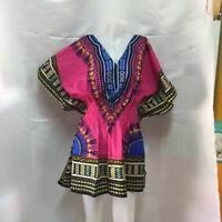 NWT DASHIKI AFRICAN MAXI DRESS CAFTAN VINTAGE BOHO PRINT BEACH PLUS SIZE BLACK X