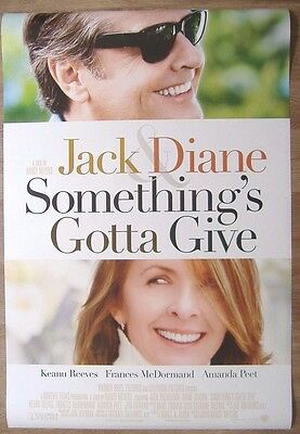 Something's Gotta Give (2003) ORIGINAL D/S ONE-SHEET MOVIE POSTER