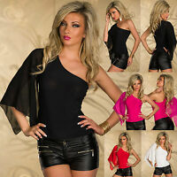 NEW SEXY WOMEN CLUBBING ONE SHOULDER BODY TOP LADIES BLOUSE SIZE 6 8 10 12 SHIRT