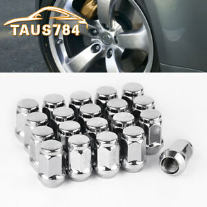 20-Chrome-1-2x20-Wheel-Lug-Nuts-Acorn-Bulge-Closed-end-for-Ford-Explorer-Mustang