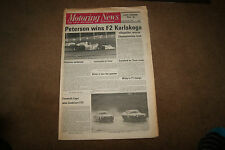 Motoring News 15th August 1974 F2 Karlskoga ETC Zandvoort Enna S2 Triumph 2000