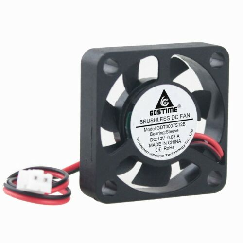 1pcs 30mm 12V 2Pin 30x30x7mm 3cm Small DC Motor Brushless Cooling Case Fan 3007S