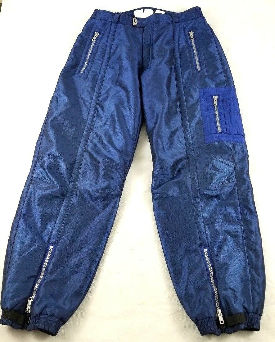 Vintage Womens KAELIN bluee Iridescent Solar Energy Snow Ski  Pants Size M  cost-effective