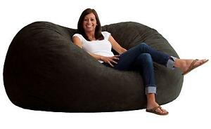 Delicieux Big Joe XL Fuf Foam Filled Bean Bag Chair Comfort Suede Black Onyx