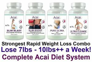 Acai Diet Pills Detox Cleanse Fat Burner Cleanser Lose Weight Loss