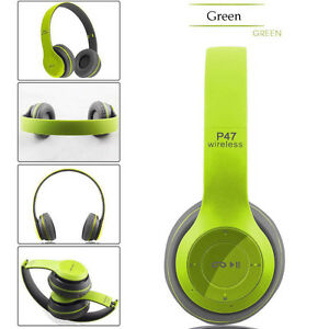 P47 Wireless Bluetooth Sport Earphone with Microphone Stereo Headphones Headset