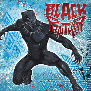 Image Is Loading BLACK PANTHER LUNCH NAPKINS 16 Birthday Party Supplies