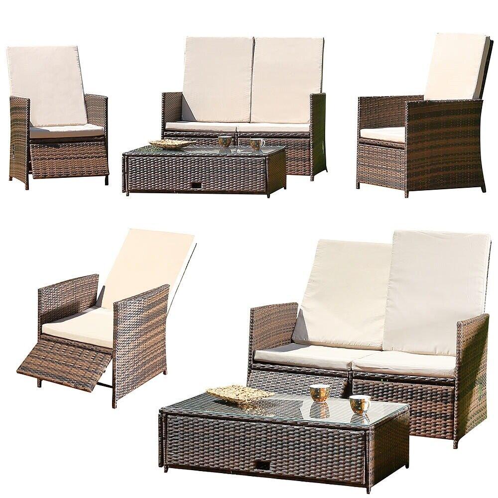 Muebles de jardín jardín cenador conjunto de asientos de ratán grupo de asientos llamado lounge set