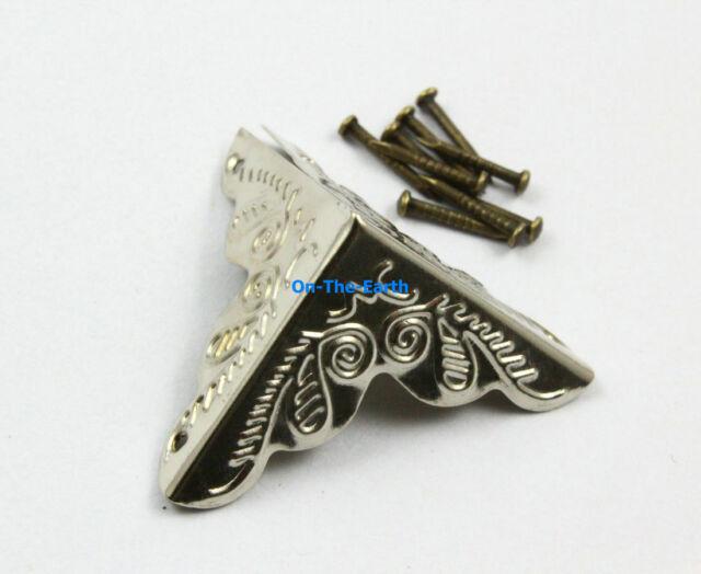 40 Pieces 25mm Silver Jewelry Box Corner Gift Box Corner Protector
