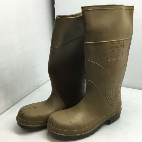 Mens 8 Details about  /TINGLEY STEEL TOE RUBBER SAFETY BOOTS 4843