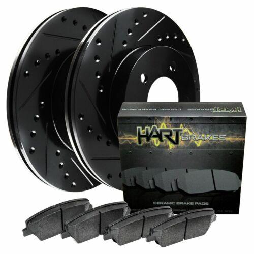 Ceramic Brake pads BHCF.67102.02 Hart Brakes Black Front Drill Slot Rotors