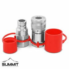 Flat Face High Flow Hydraulic Quick Disconnect Coupler Set 34 Body X 1 Sae