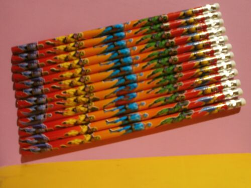 Super Hero Character Pencils x 12 *Party Bag Fillers*Party Prizes
