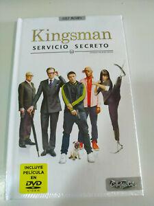 Kingsman-Servicio-Secreto-Edicion-especial-Libro-DVD-Espanol-English-Nuevo