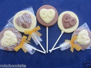 Image Is Loading 50TH BIRTHDAY HEART CHOCOLATE FAVOURS SWEETS PARTY BAG