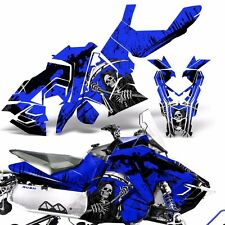 Sled Wrap for Polaris AXYS RUSH Pro S Graphic Snow Decal Kit Snowmobile REAP BLU