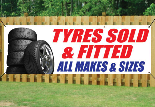 TYRES SALE SIGN BANNER OUTDOOR SIGN waterproof PVC with Eyelets 017