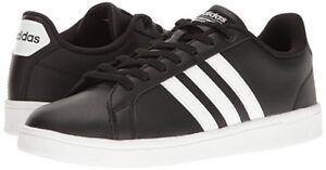Man Adidas Cloudfoam Advantage Fashion Sneaker B74264 Black/White/White New