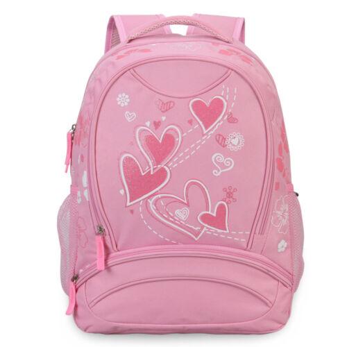 Sweet Heart Pattern School Backpack Girls Book Bag Knapsack Gift for New Student