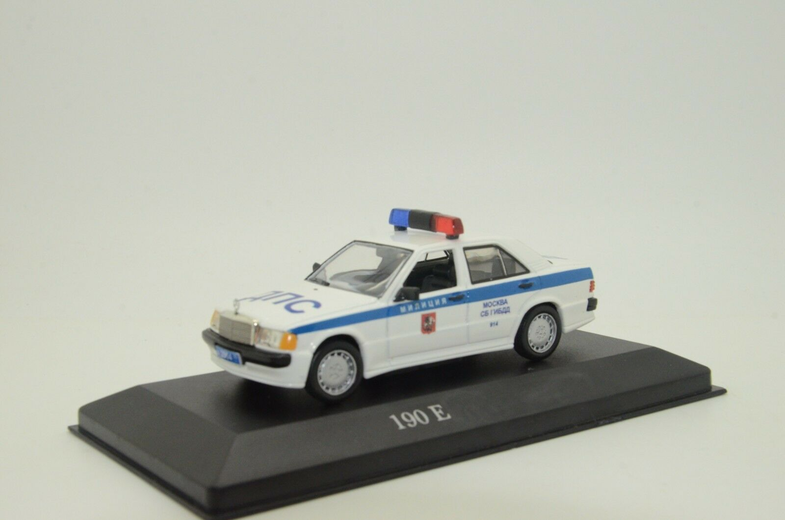 Mercedes 190E Russian Milicya Police Car Custom Made 1/43