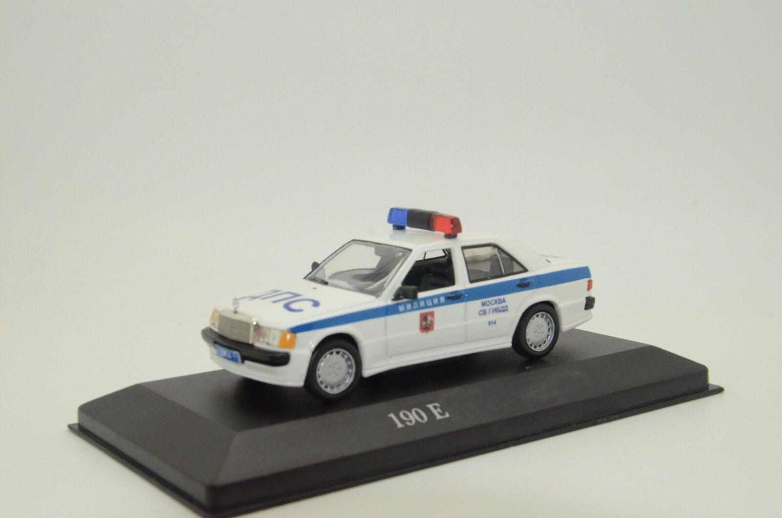 Mercedes 190E coche de policía rusa milicya Hecho a Medida 1 43