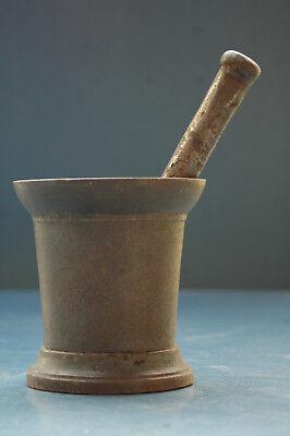 Apotheker Ca 2,5kg Antiker Eisen Mörser Mit Stößel
