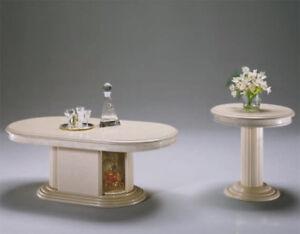 Couchtisch Oval Mit Bar Klassische Stilmöbel Italien Hochglanz Beige