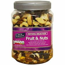 Sun Valley Fruit & Nuts 1.1Kg Tub Natural Selection, Brazil, Pistachios, Cashew
