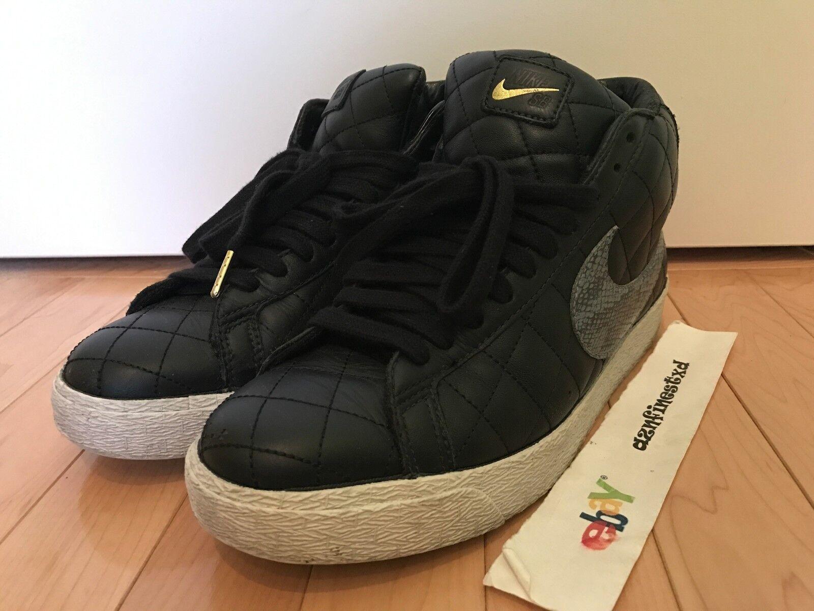 Nike Blazer SB Supreme Black Sz 9 Used 313962-001 dunk