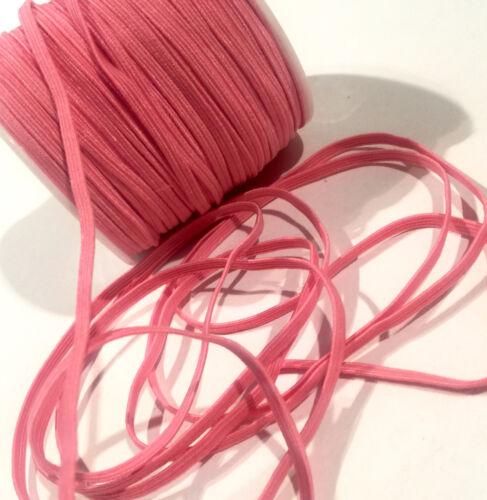 "5 yards pink 1//8/"" thin skinny elastic DIY baby headbands /& accessories"