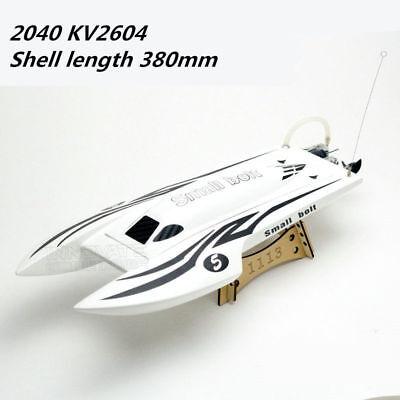 2040 Brushless electric boat Racing fiberglass CAT hull L380mm RC Boat #1832
