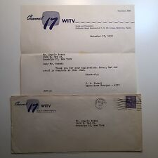Vintage Midcentury Channel 17 WITV Letterhead 1953 Hollywood FL