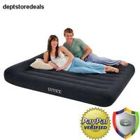 Inflatable Air Bed Queen Size Mattress Pillow Top W/ Electric Pump Airbed Home