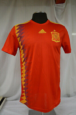 NEW Adidas Spain Home Soccer Jersey CX5355 Men's Size SMALL Red ...