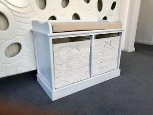 Sensational Details About New Classy Cream Shabby Chic Storage Bench Ottoman Window Seat Bedroom Furniture Machost Co Dining Chair Design Ideas Machostcouk