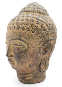 Steinfigur-20-cm-Buddha-Bueste-Statue-Figur-Tempelwaechter-Skulptur-Garten