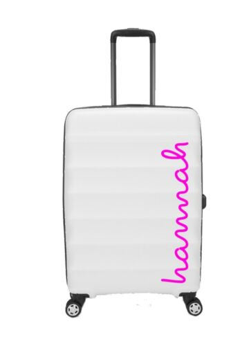 LOVE ISLAND STYLE PERSONALISED NAME STICKER FOR SUIT CASE//VANITY CASE