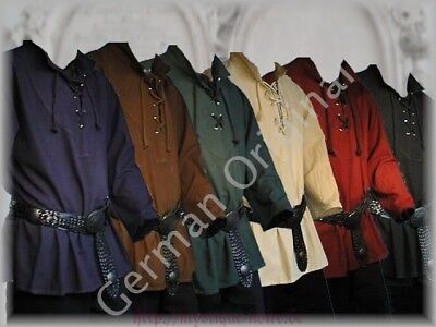 Medieval Laced Up Pirate Shirt Reenactment SCA  Landlord Knight Top Without Belt